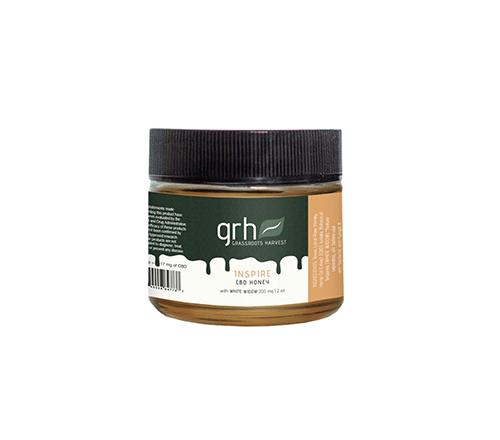 Inspire hemp oil extract honey 2oz jar.